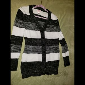 Black, Gray and White Striped Sweaters